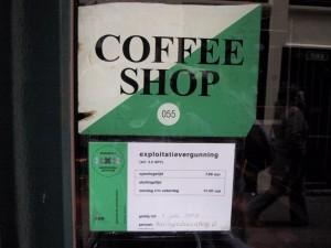 Een cannabiswinkel in Amsterdam